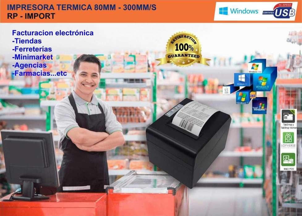 Impresora Termica Ticketera 80mm C/automatico Usb Lam 300/mm OFERTA!!
