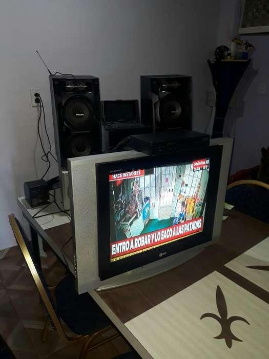 Tv Pantalla Plana Lg con Antena Y Sega
