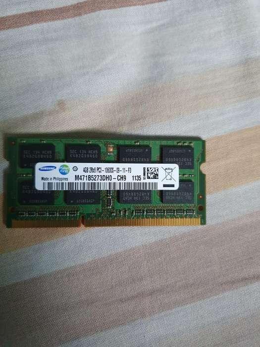 Vendo Memoria Ram 4gb Ddr3 para Laptop