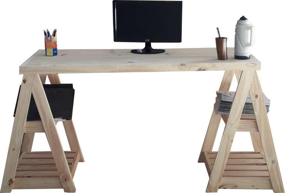 <strong>escritorio</strong> CON CABALLETES A SOLO 1540