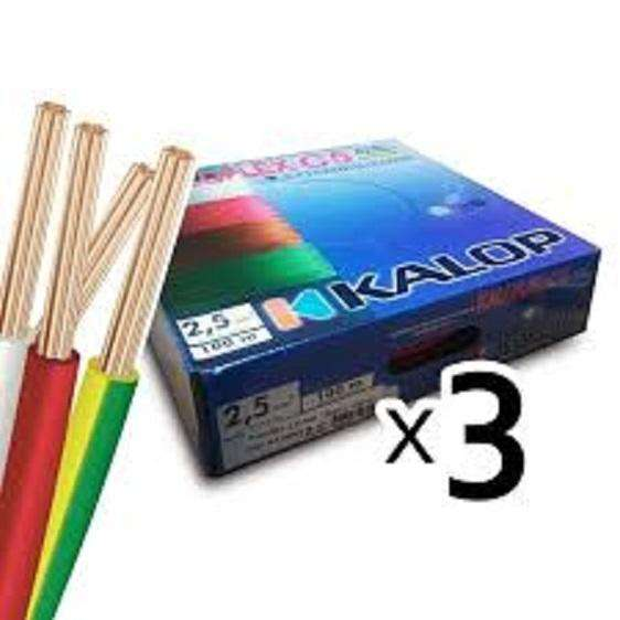 Pack X 3 Cable Unipolar Kalop 25mm. Oferta