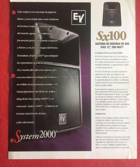 Folleto Electrovoice Ev Sx100 Sx200 Caba Envios Al Interior