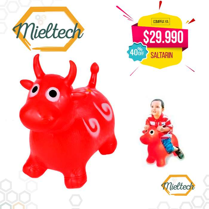 muñeco inflable saltarin vaca burro varios colores para niña o niño, varios colores