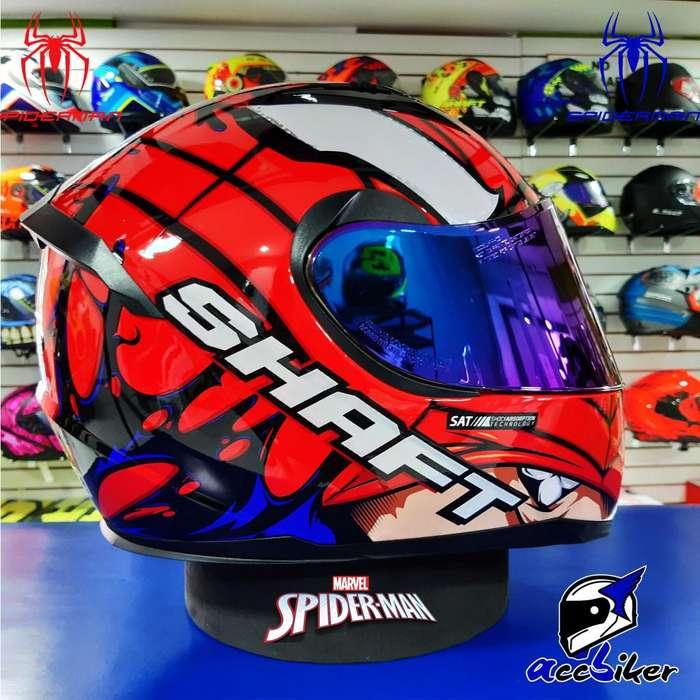 Casco Shaft Sh-586 Virus Spiderman