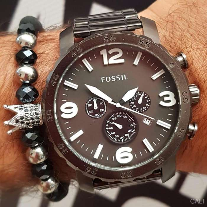 Reloj Fossil de color negro para hombre