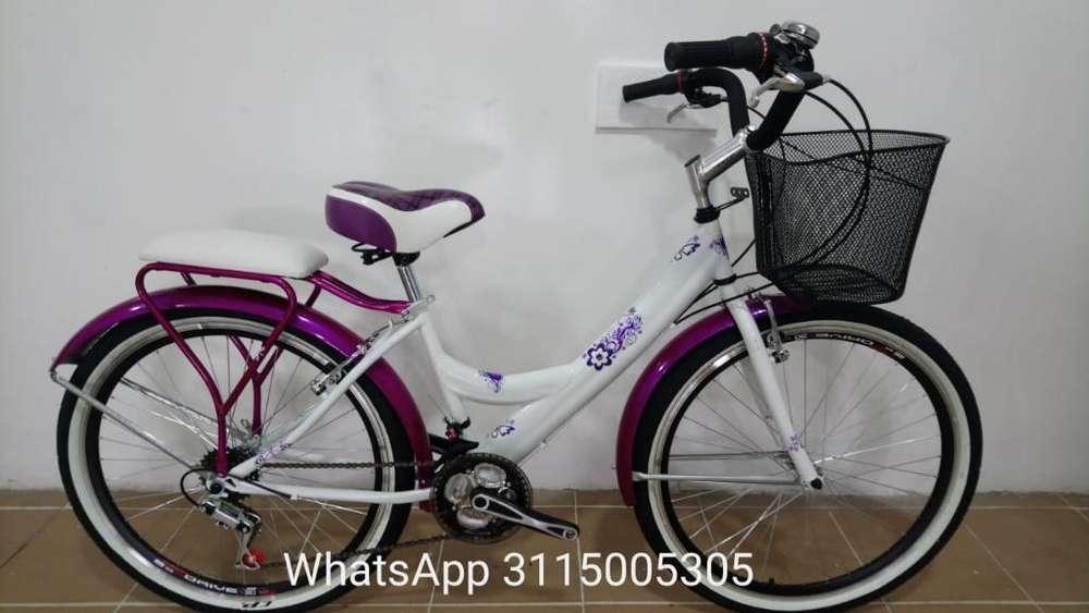 Bicicleta de Dama Playera Equipada