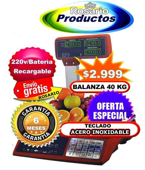 Balanza Con Mastil Comercial Teclado Acero Inox. GARANTÍA 6 MESES