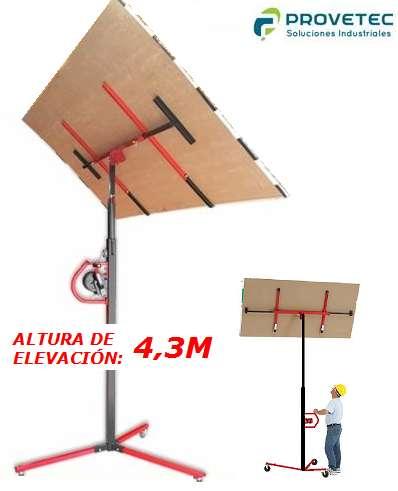 Elevador de Placas de Yeso 3,1m y 4,4m Durlock, Knauf, Cielorrasos, Tableros, Revestimientos, etc