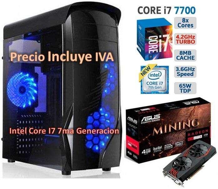 Computador Cpu Gamer Intel Core I7 7ma Gen 2tb 16gb RX470 4GB PRECIO INCLUYE IVA ENTREGA A DOMICILIO