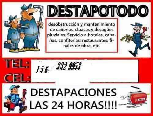 Destapaciones en BERAZATEGUI -QUILMES 1563329953