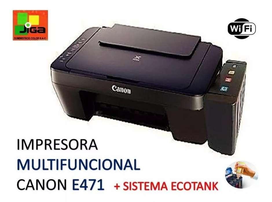 Impresora Canon E471 C.sistema Wifi