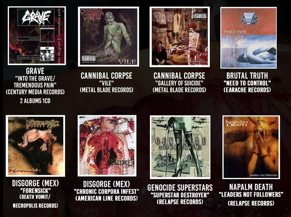 CDS DEATH METAL / GRIND