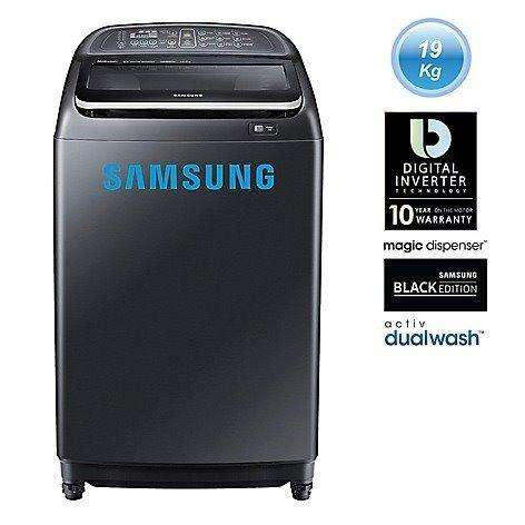 Lavadora Samsung Wa19j6750lv/pe 19 Kg Negro Casi Nuevo