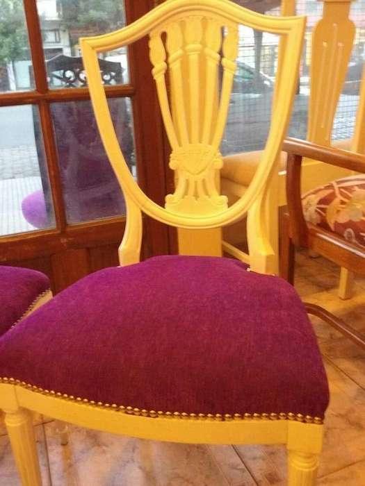 vendo varias sillas restauradas