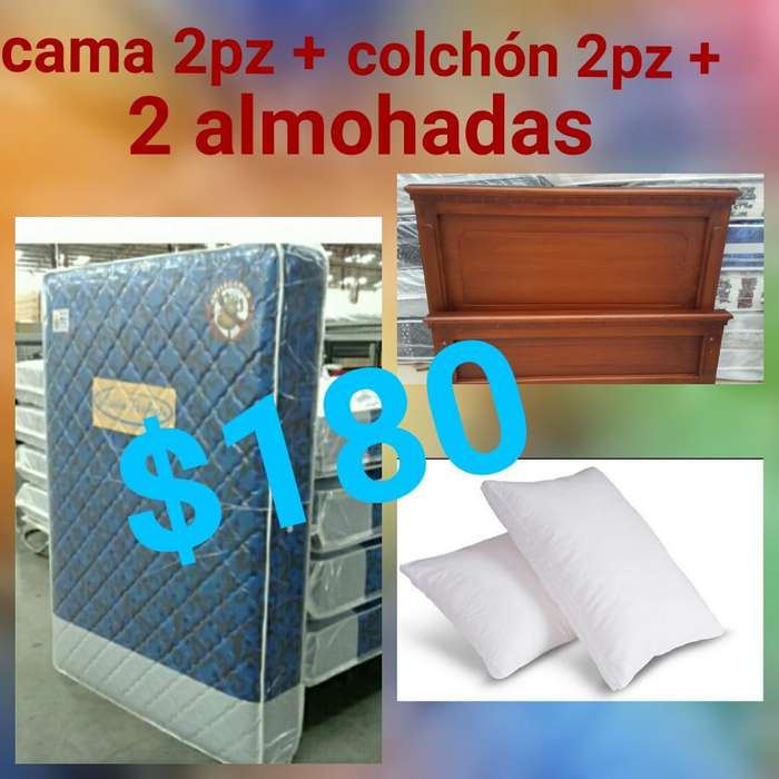 Camas Mas Colchon Mas 2 Almohada Nuevos