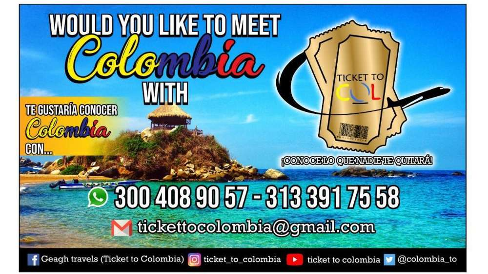 Viajes Colombia Ticket To Colombia