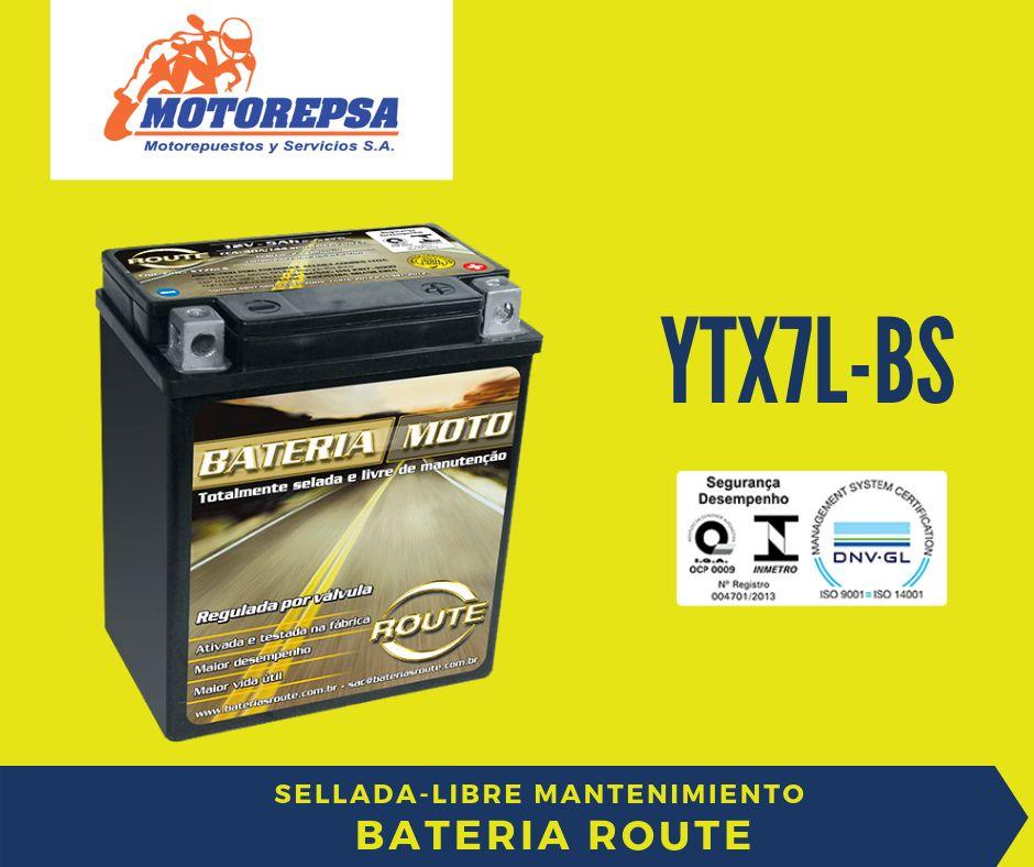 Bateria de MOTO ROUTE YTX7LBS / 12v6Ah