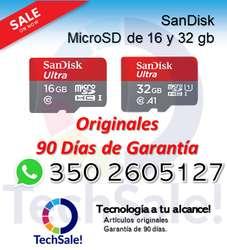 Memoria Microsd Sandisk 16 32 gb micro sd Clase 10 16 32 gb Original