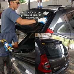 Parabrisas, lunetas y vidrios para carros en general.