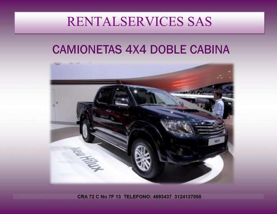 ALQUILER DE CAMIONETAS 4X2 Y 4X4