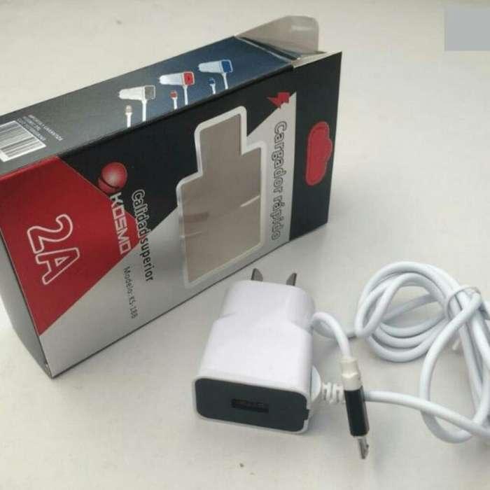 Cargador Rapido 2.0. Cable Y Usb Extra