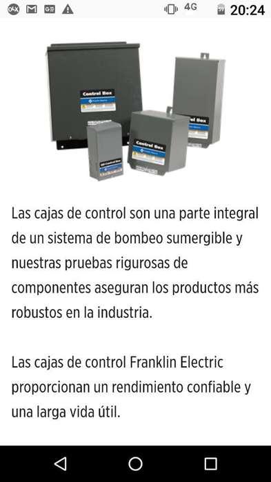 Caja Americana Franklin Electric Motor