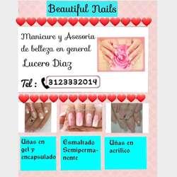 Trabajo de Manicure con Tips O Molde