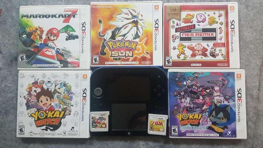 Nintendo 2ds Y 7 Juegos