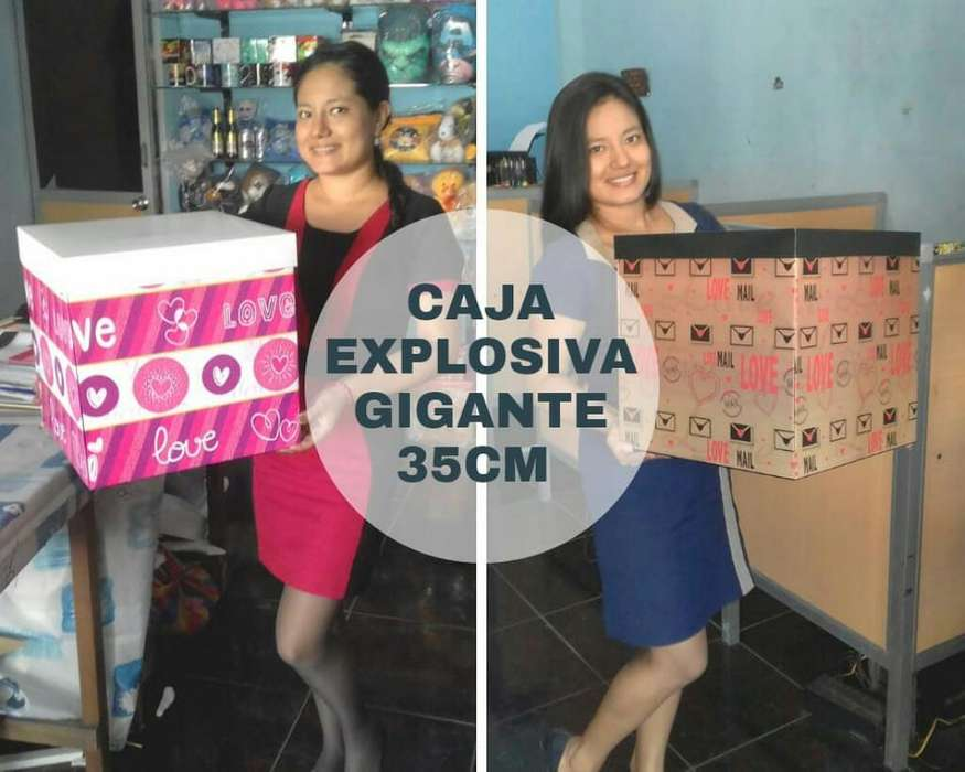 Caja de Regalo Explosiva Mide 35cm