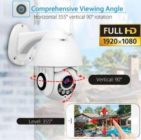 Cámara de seguridad PTZ EXTERIORES WIFI IP 1080p vision nocturna