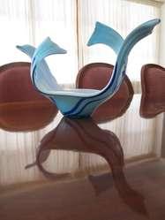 Centro de mesa Vintage en vidrio Murano.