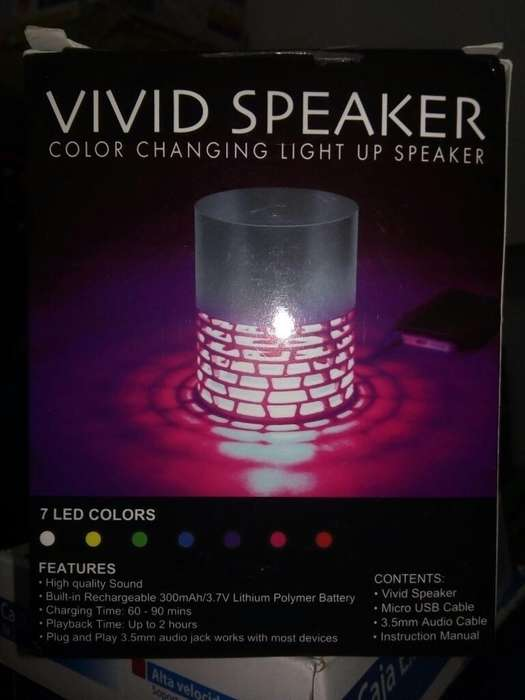 Parlante Led Bluetooth 7color