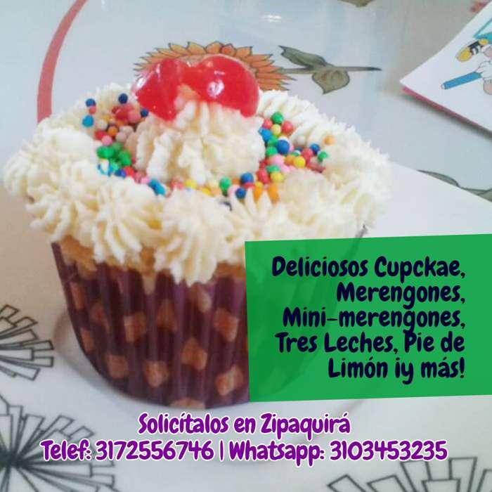 Deliciosos cupcakes, merengón, tres leches y más, para toda ocasión ¡y al mejor precio!