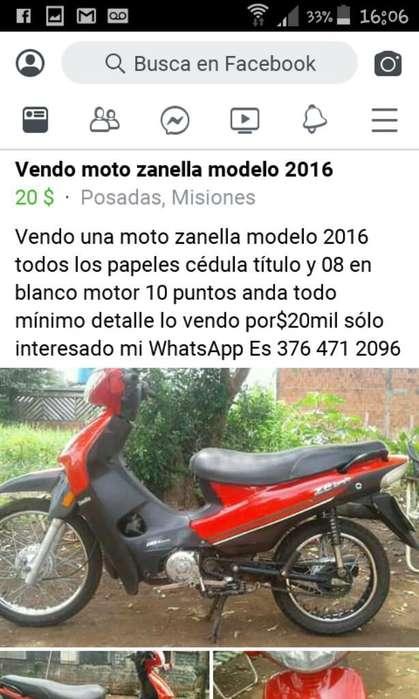 Vendo <strong>moto</strong> Zanella Modelo 2016