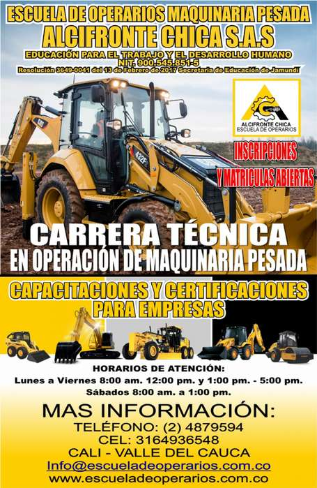 CARRERA TÉCNICA EN OPERACIÓN DE MAQUINARIA PESADA