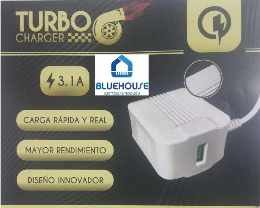 Cargador Turbo Lion 3.1A c/cable USB