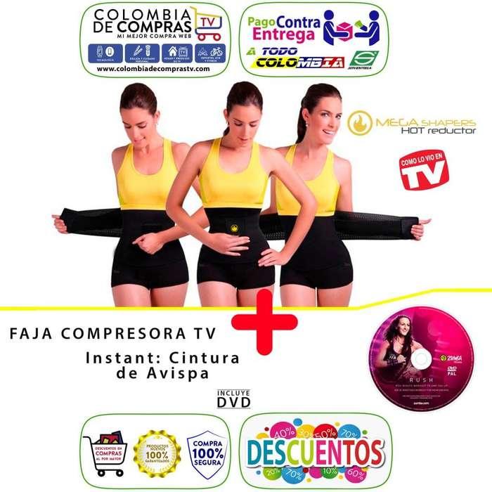 Faja Hot Banda Tv Compresora Cintura Avispa Mega Shapers, Nuevos, Originales, Garantizados