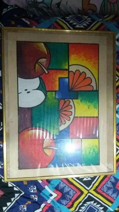 Cuadro Cubismo de Frutas