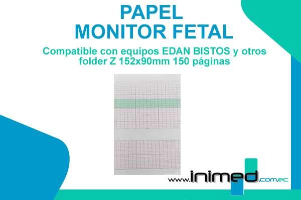Papel para monitor Fetal Edan F9