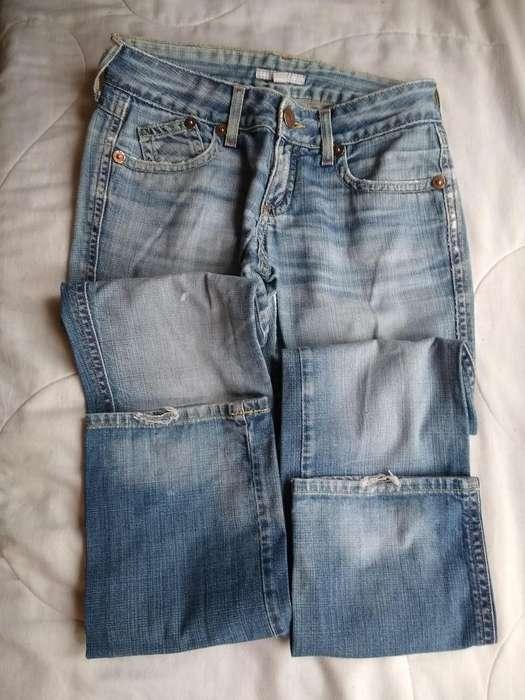 Pantalon Jean Trf Zara T eur 38 azul NO ELASTIZADO -GASTADO