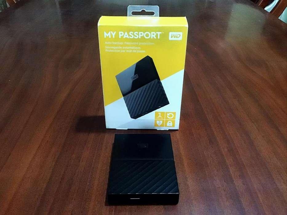 DISCO DURO WD MY PASSPORT 1TB EXTERNO USB 3.0 AUTO. BLACK