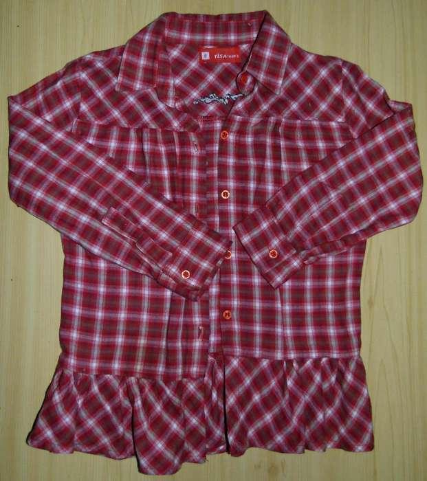 Camisa Escocesa Tiza Teens Talle 8 La Plata