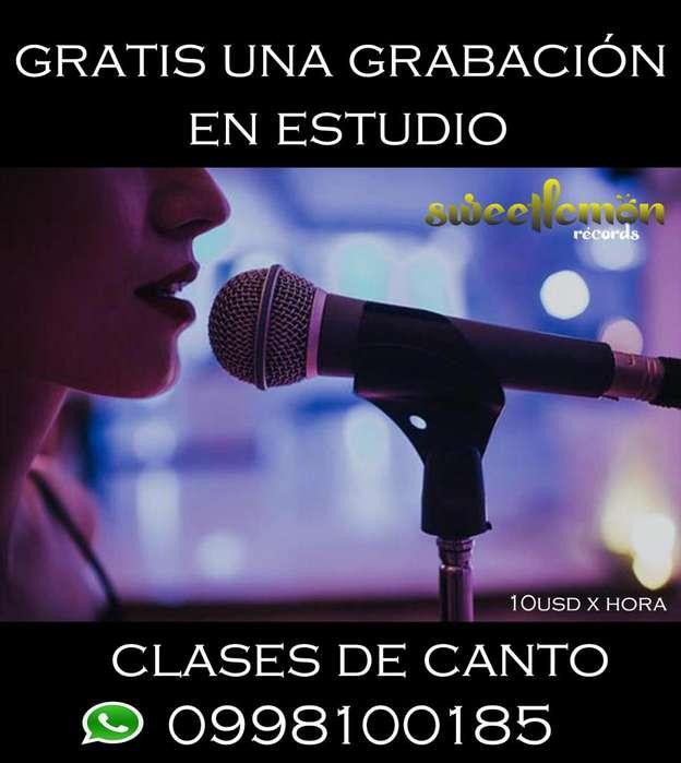 CLASES DE CANTO EN ESTUDIO