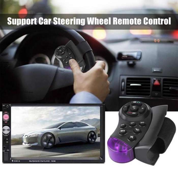 RADIO PARA CARRO DOBLE DIN MP5 USB SD AUX BT FM CON MANOS AL VOLANTE PANTALLA DE 7 PULGADAS TACTIL