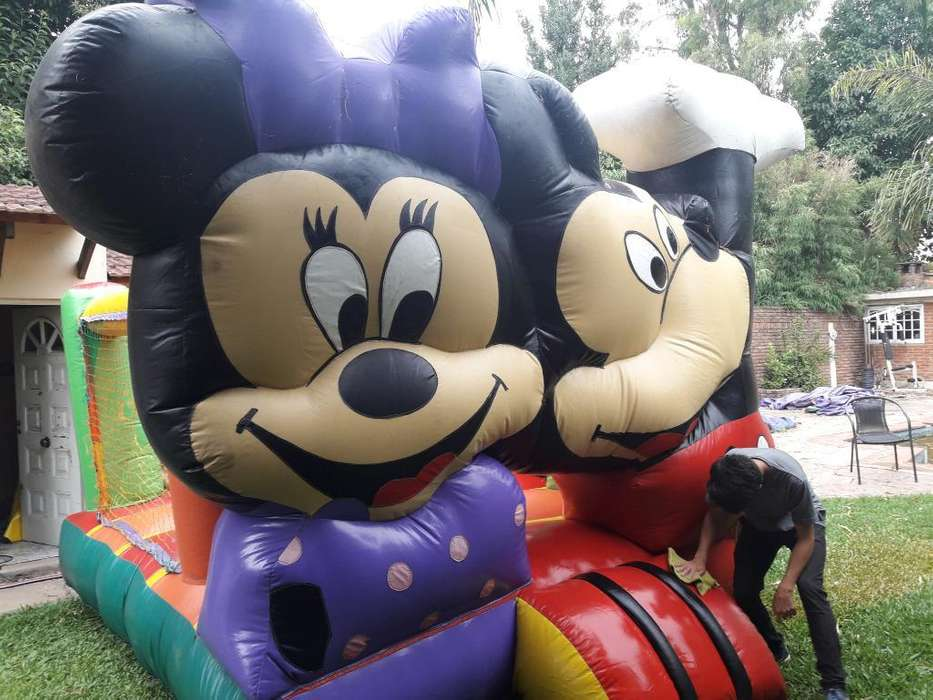 Castillo Inflable Forma Mickey 6 X 5 Mts