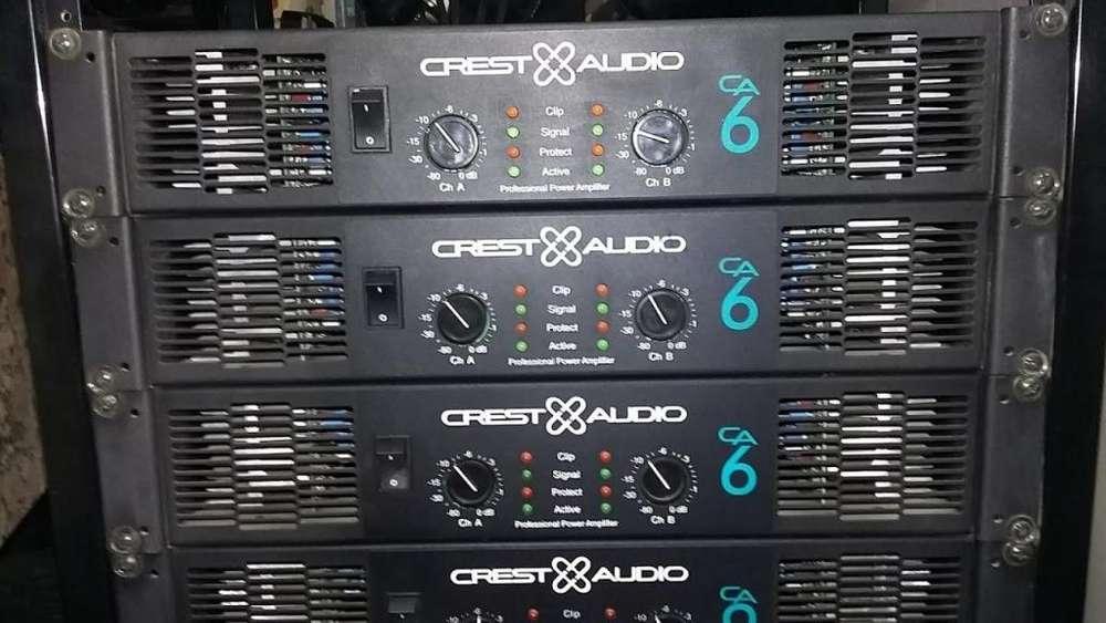 PLANTA DE SONIDO PROFESIONAL,Made In USA, CREST AUDIO CA6, Amplificadores Potencias Americanas
