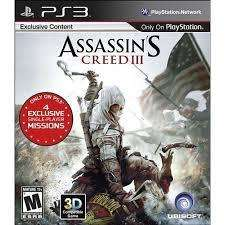 PS3 ASSASSINS CREED III