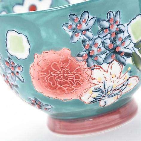 Mug 15 cm Flori Turquesa