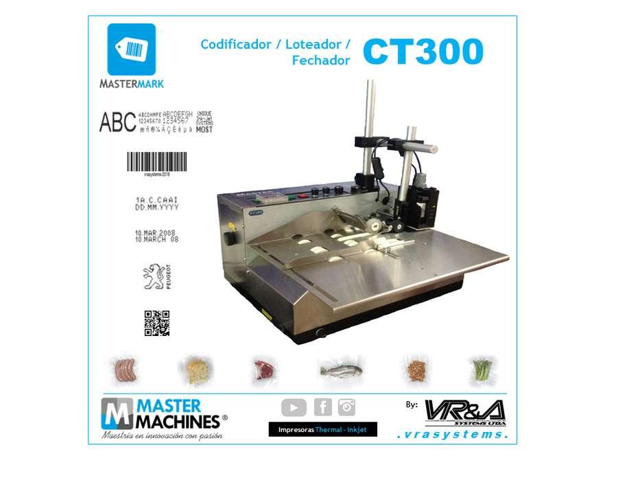 Mastermark CT300 Codificador / Loteador / Fechador de bolsas o etiquetas