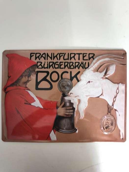 VENDO aviso metálico Vintage Frankfurter
